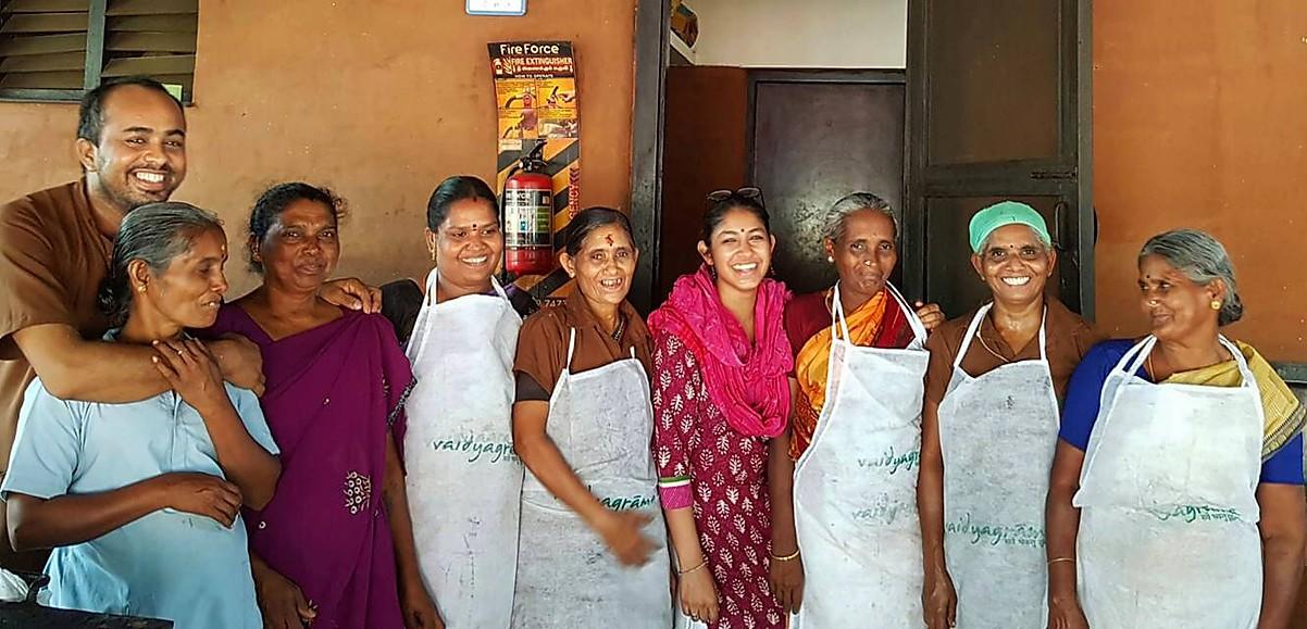 Vaidyagrama kitchen staff