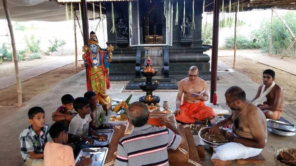 Pooja at Dhanvantari Temple